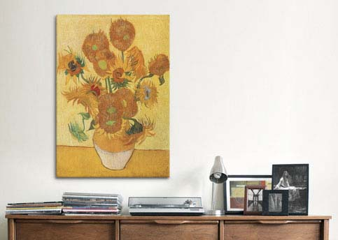 Sunflowers 1888 by Vincent van Gogh  Canvas Print
