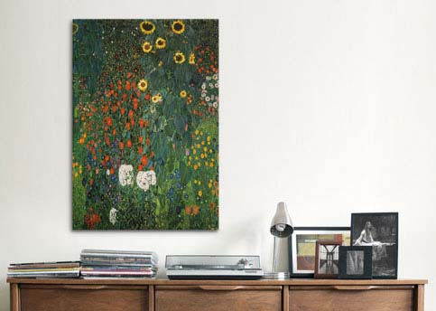 Farm Garden with Sunflowers 1912 by Gustav Klimt  Canvas Print