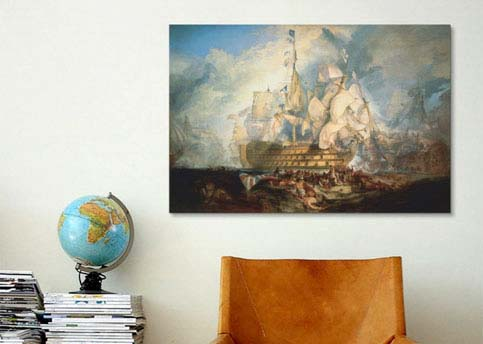 The Battle of Trafalgar 1822-1824 by William Turner  Canvas Print