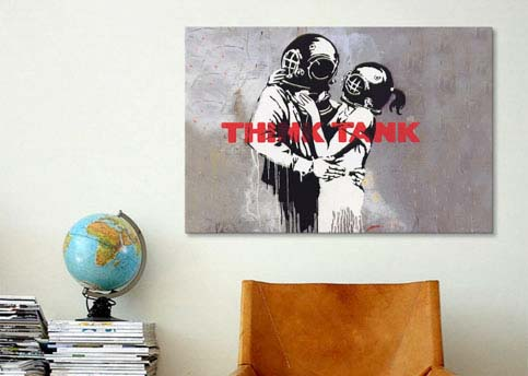 Blur Think Tank Album Cover by Banksy  Canvas Print