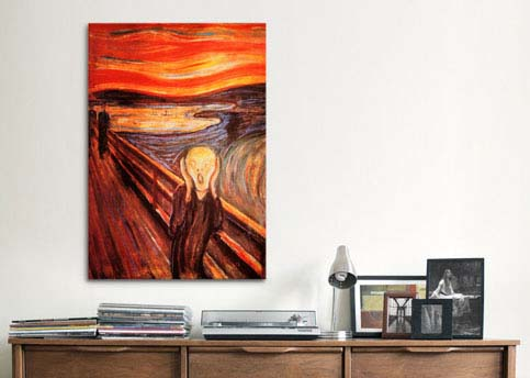 The Scream By Edvard Munch Canvas Print