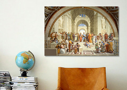 School of Athens By Raphael Canvas Print