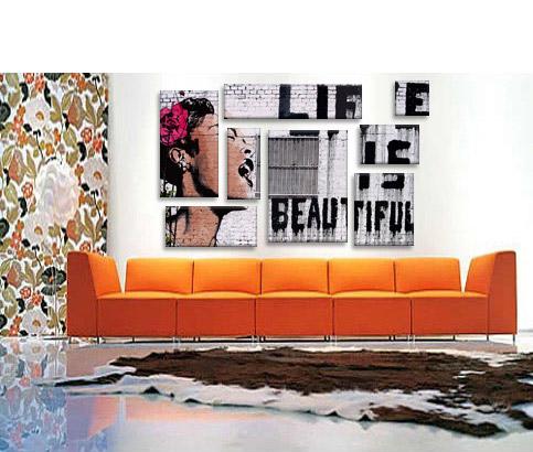 Life Is Beautiful by Banksy  Art Print